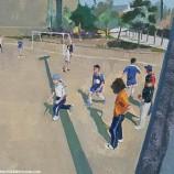 sunday football - oil on canvas