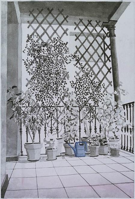 balcony, Calle Bruc 46,