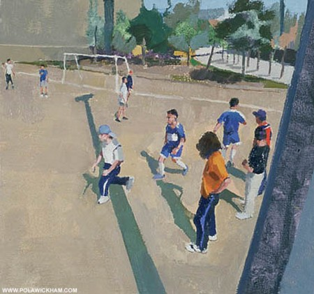 sunday football - oil on canvas