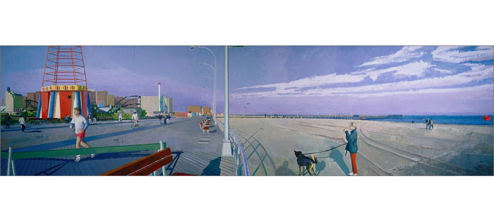 Coney Island i 8ft by 30ft acrylic on plywood panels