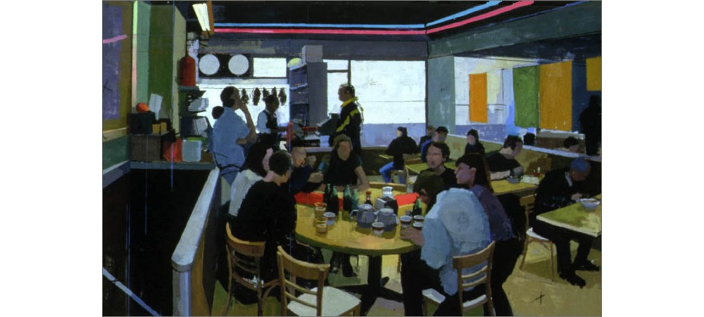 Sunday lunch in Chinatown 6ftx8ft oil on canvas 1998