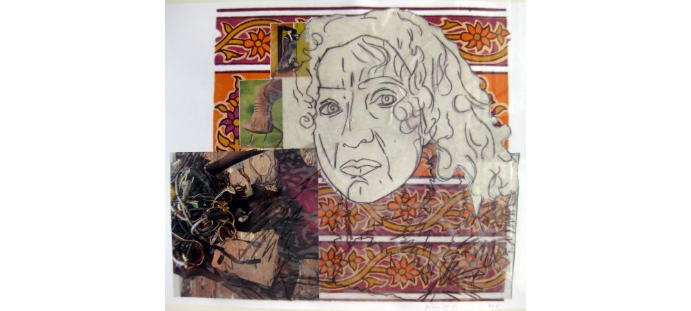 Belario played by Elena Felloni/collage and mixed media on paper/28 by 40cm/2011