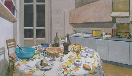 Chez Stefano and Dona - oil on canvas